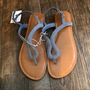 Blue Toe Sandals